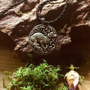 Witchy Celtic Druid Spirit Wolf Necklace